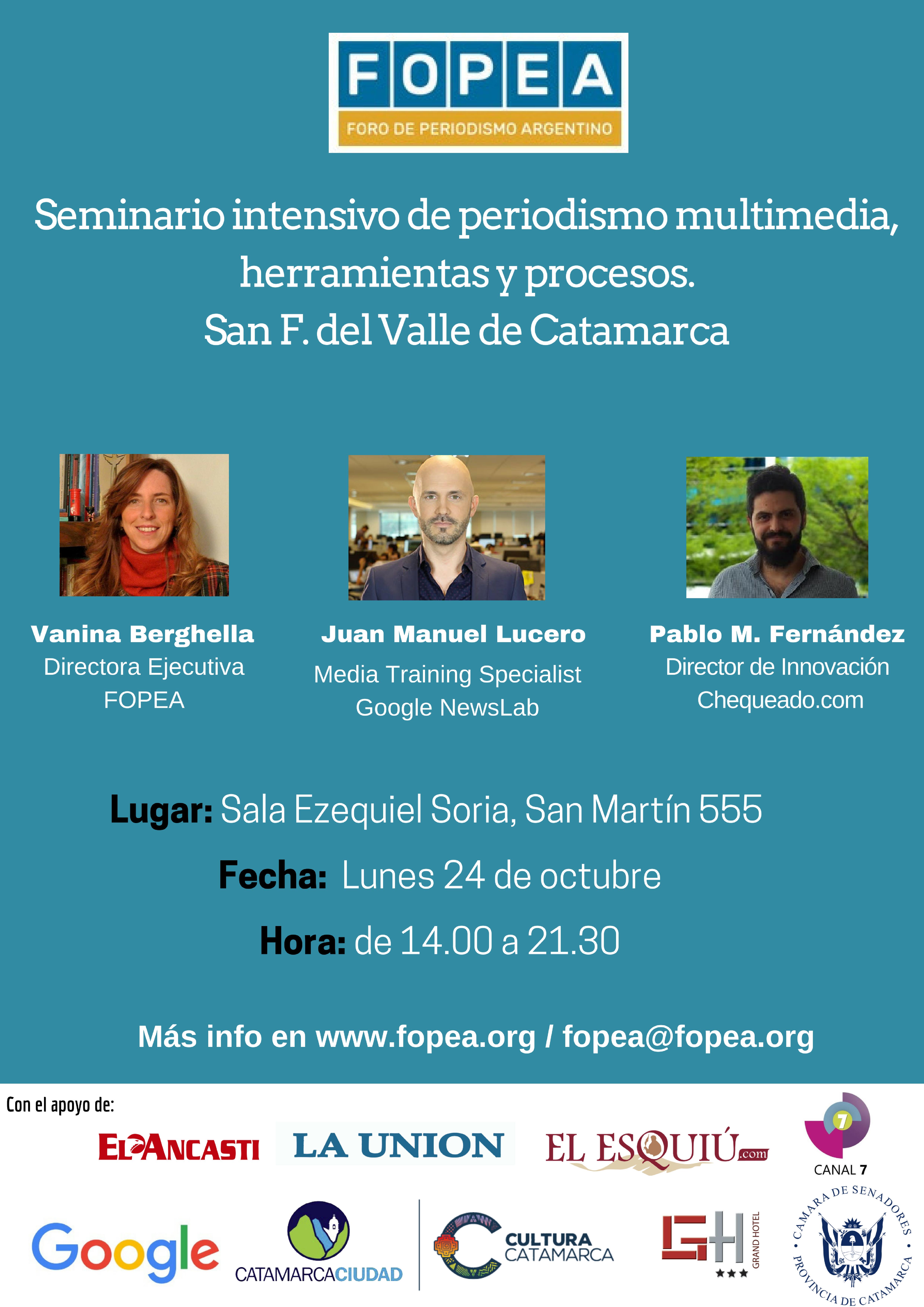 Periodismo Multimedia - Catamarca @ Sala Ezequiel Soria del cine teatro Catamarca